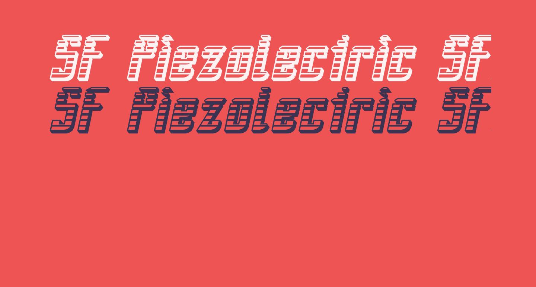 SF Piezolectric SFX Oblique