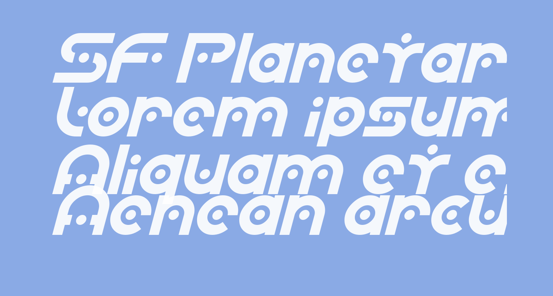 SF Planetary Orbiter Italic