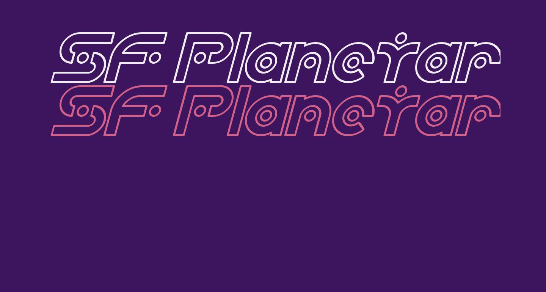 SF Planetary Orbiter Outline Italic