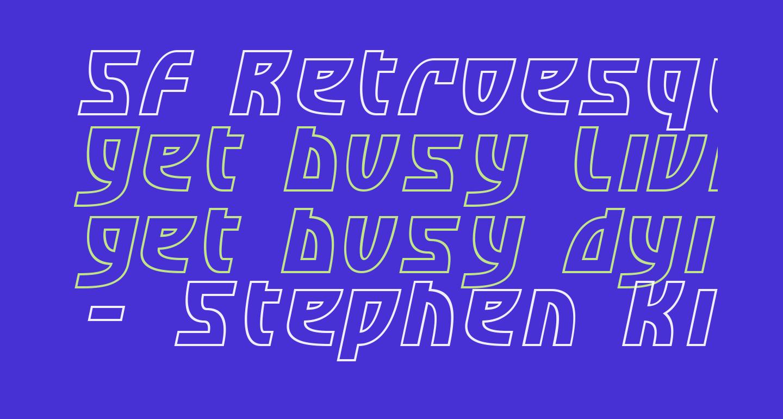 SF Retroesque Outline Oblique