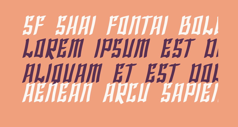 SF Shai Fontai Bold Oblique