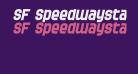 SF Speedwaystar Bold Oblique