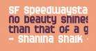 SF Speedwaystar Bold