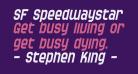 SF Speedwaystar Condensed Oblique