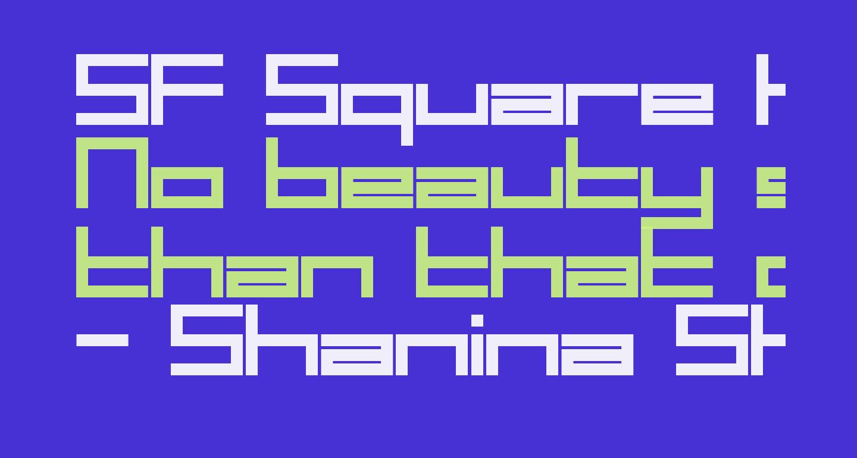 SF Square Head Bold