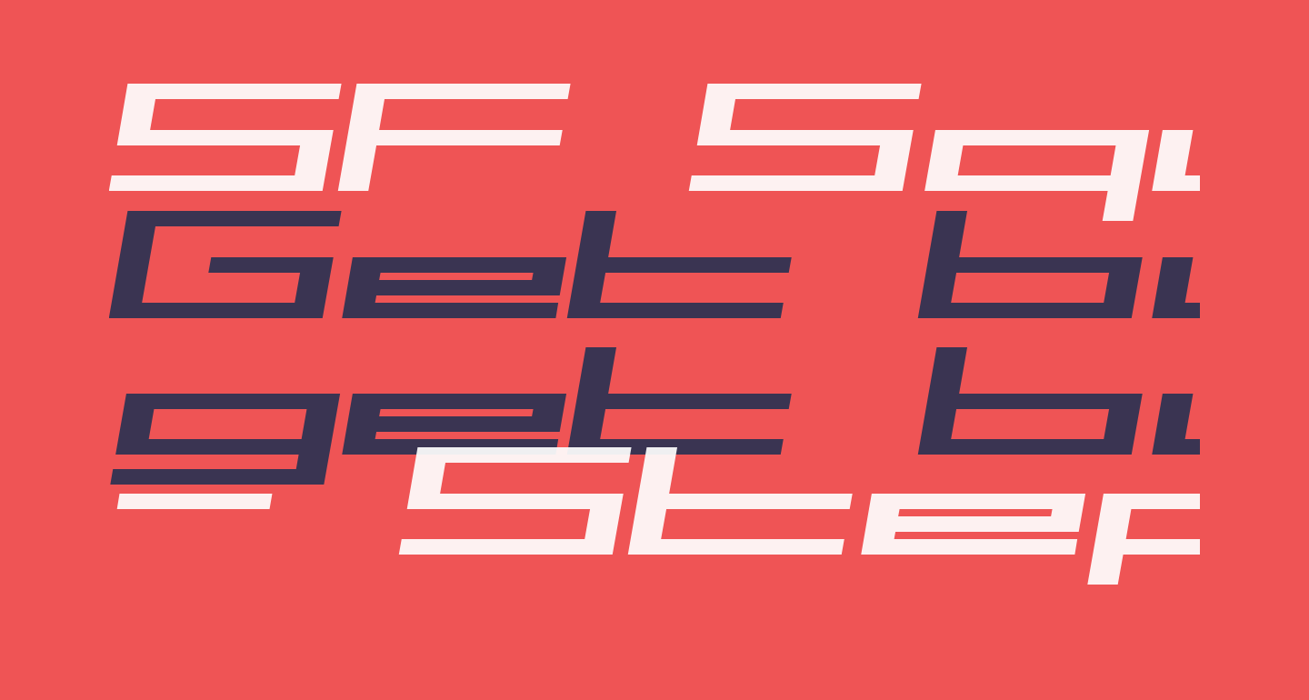 SF Square Head Extended Italic