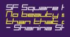 SF Square Head Italic