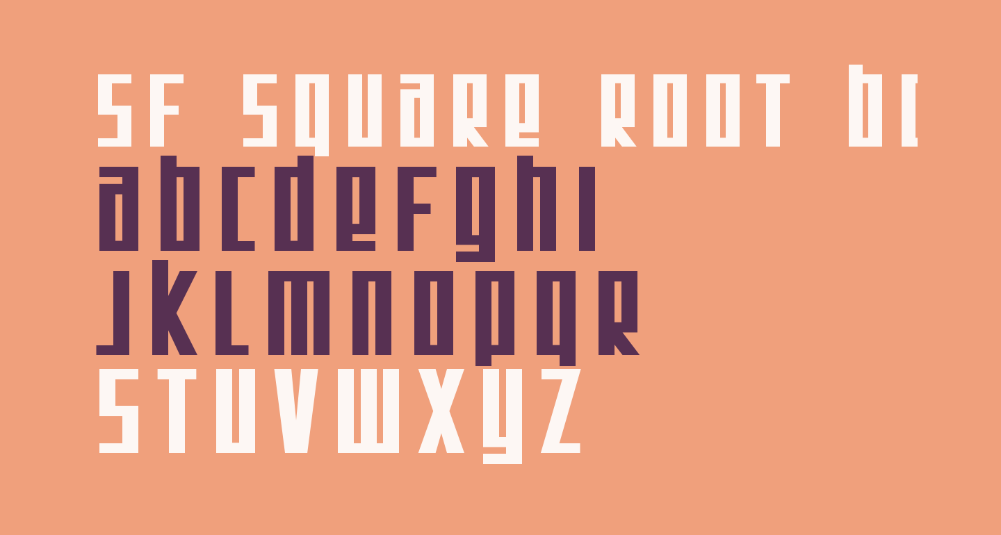 SF Square Root Bold