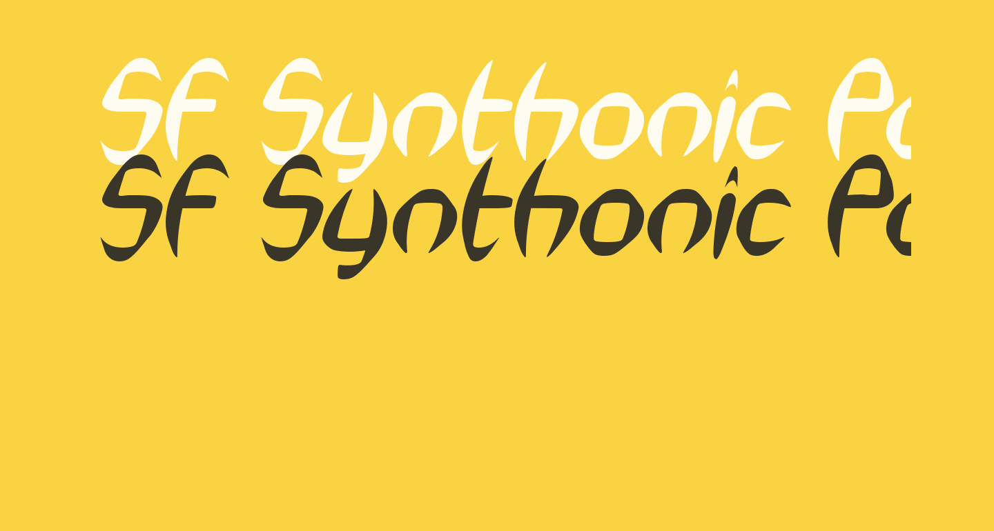 SF Synthonic Pop Oblique