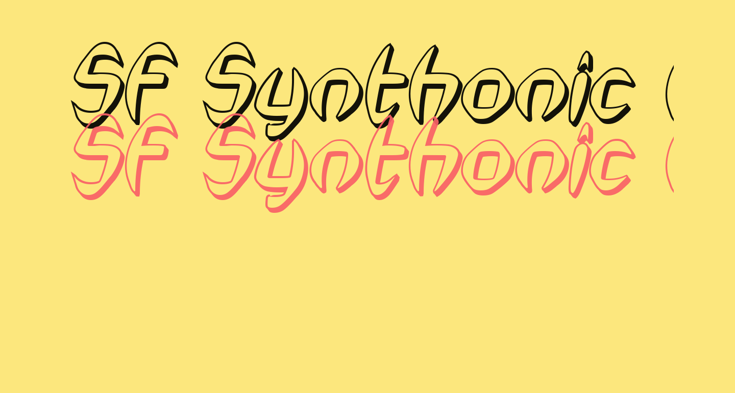 SF Synthonic Pop Shaded Oblique