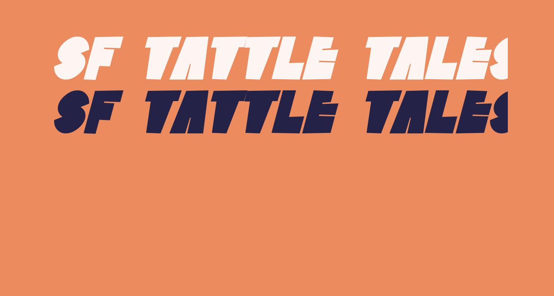SF Tattle Tales Bold Italic