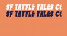 SF Tattle Tales Condensed Bold Italic