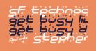 SF Technodelight Bold Italic