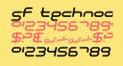SF Technodelight NS Italic