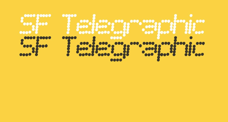 SF Telegraphic Bold Italic