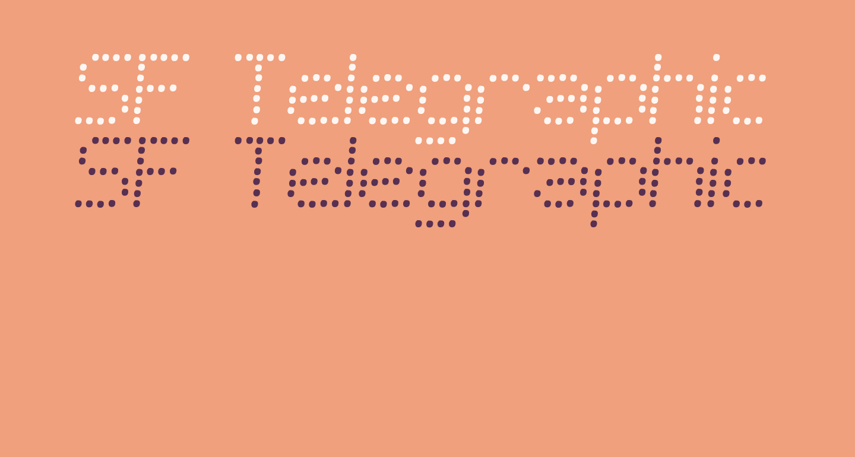 SF Telegraphic Light Bold Italic