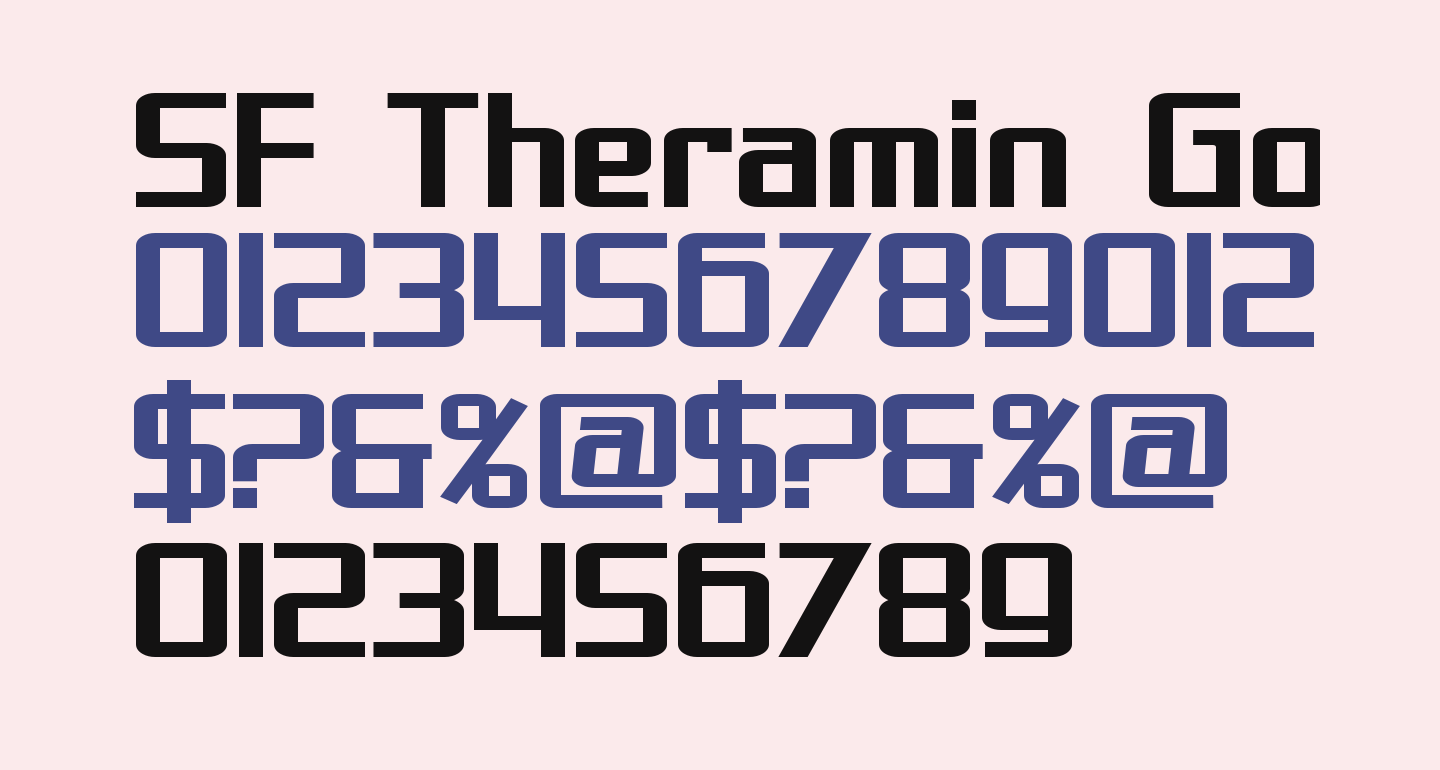 SF Theramin Gothic Bold