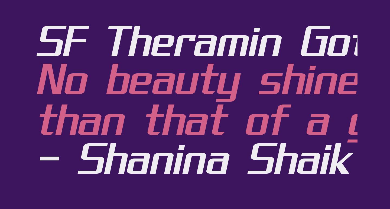 SF Theramin Gothic Oblique