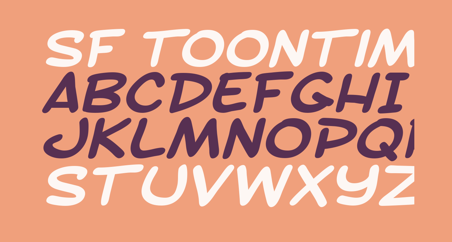 SF Toontime Extended Bold Italic