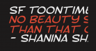 SF Toontime Extended Italic