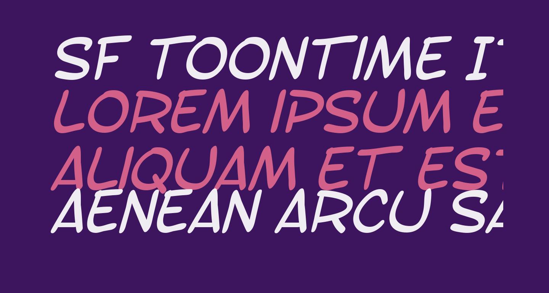 SF Toontime Italic