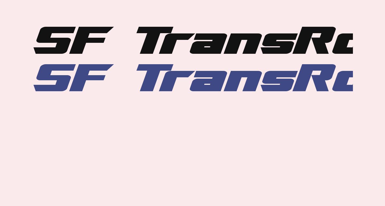 SF TransRobotics Extended Bold Italic