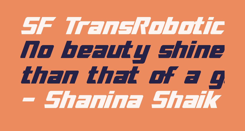 SF TransRobotics Italic