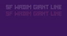 SF WADIM GIANT LINES