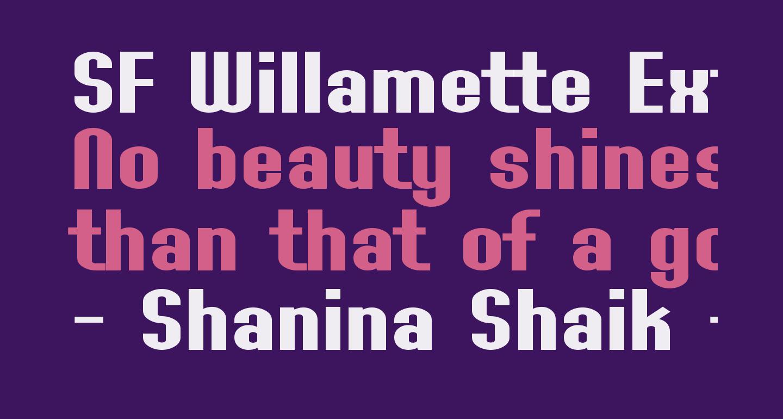 SF Willamette Extended Bold