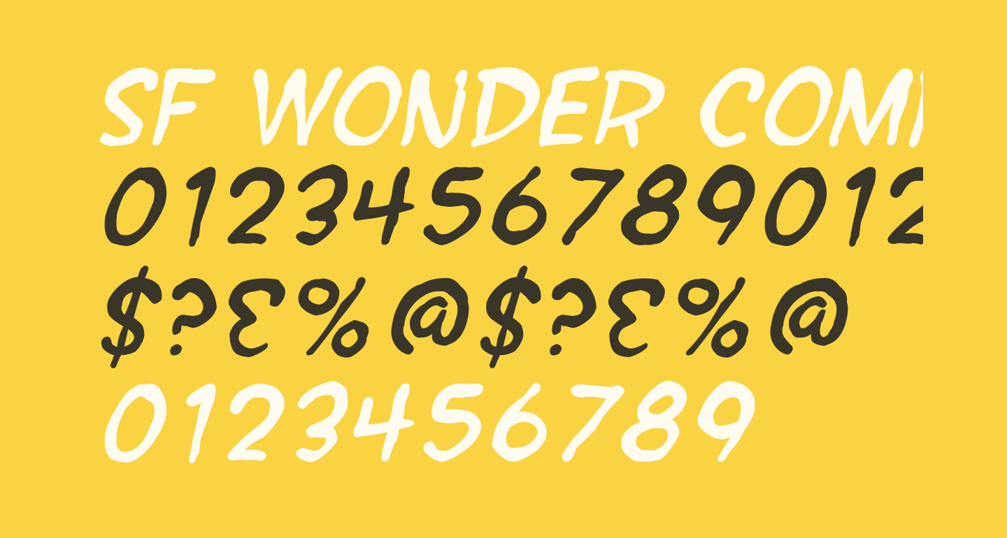 SF Wonder Comic Blotch Italic