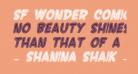 SF Wonder Comic Inline Italic
