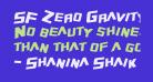 SF Zero Gravity Condensed Italic