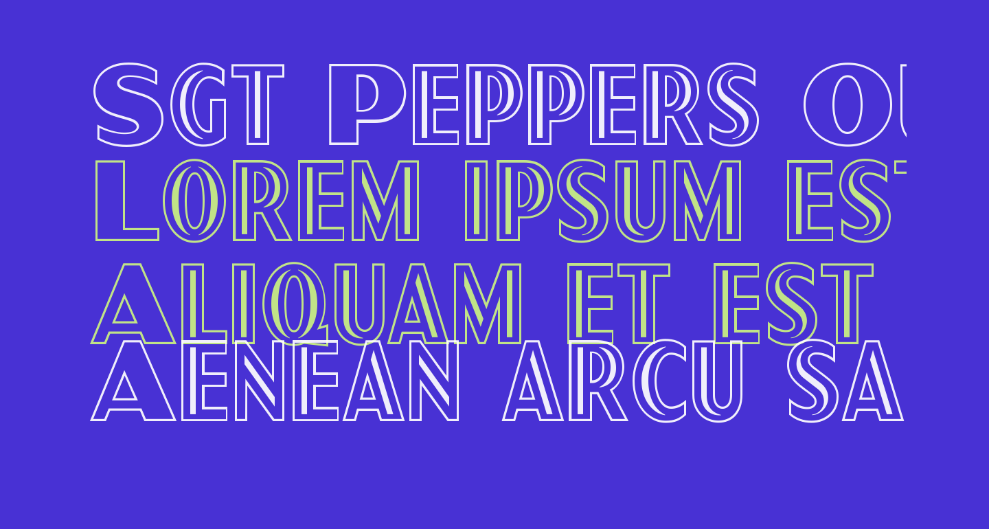 Sgt Peppers Outline