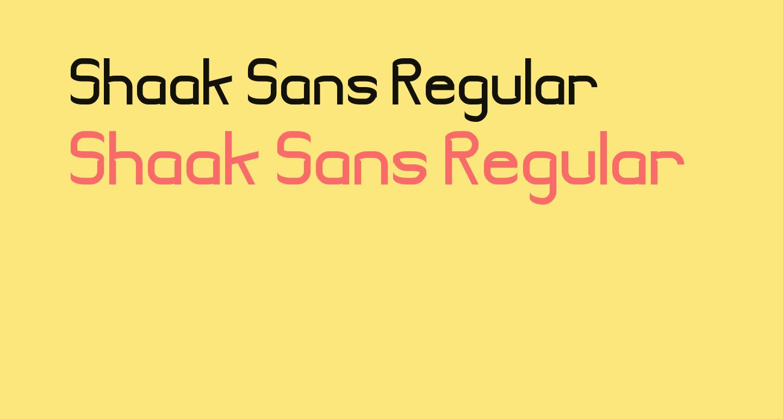 Shaak Sans Regular