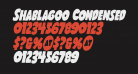 Shablagoo Condensed Italic