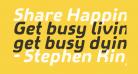 Share Happiness Around Italic