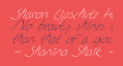 Sharon Lipschutz Handwriting Italic
