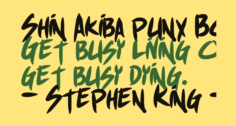 Shin Akiba punx Bold