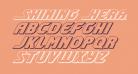 Shining Herald 3D Italic