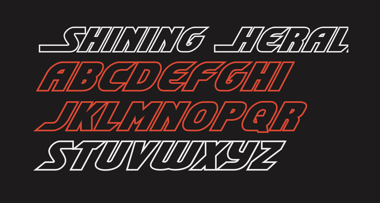 Shining Herald Outline Italic