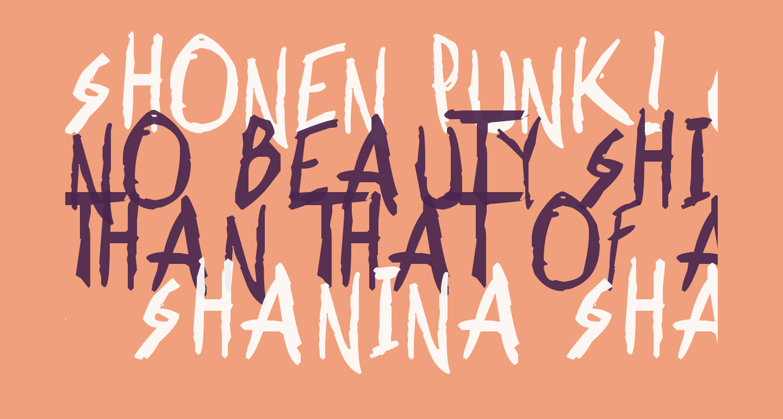 Shonen Punk! Custom Bold Bold