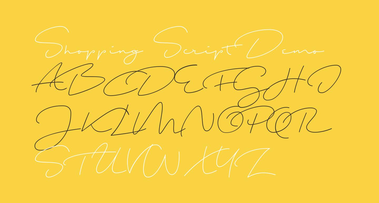 Shopping Script Demo