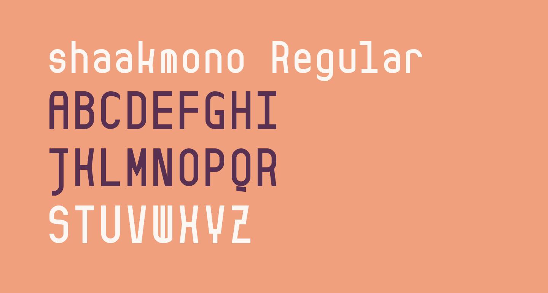 shaakmono Regular