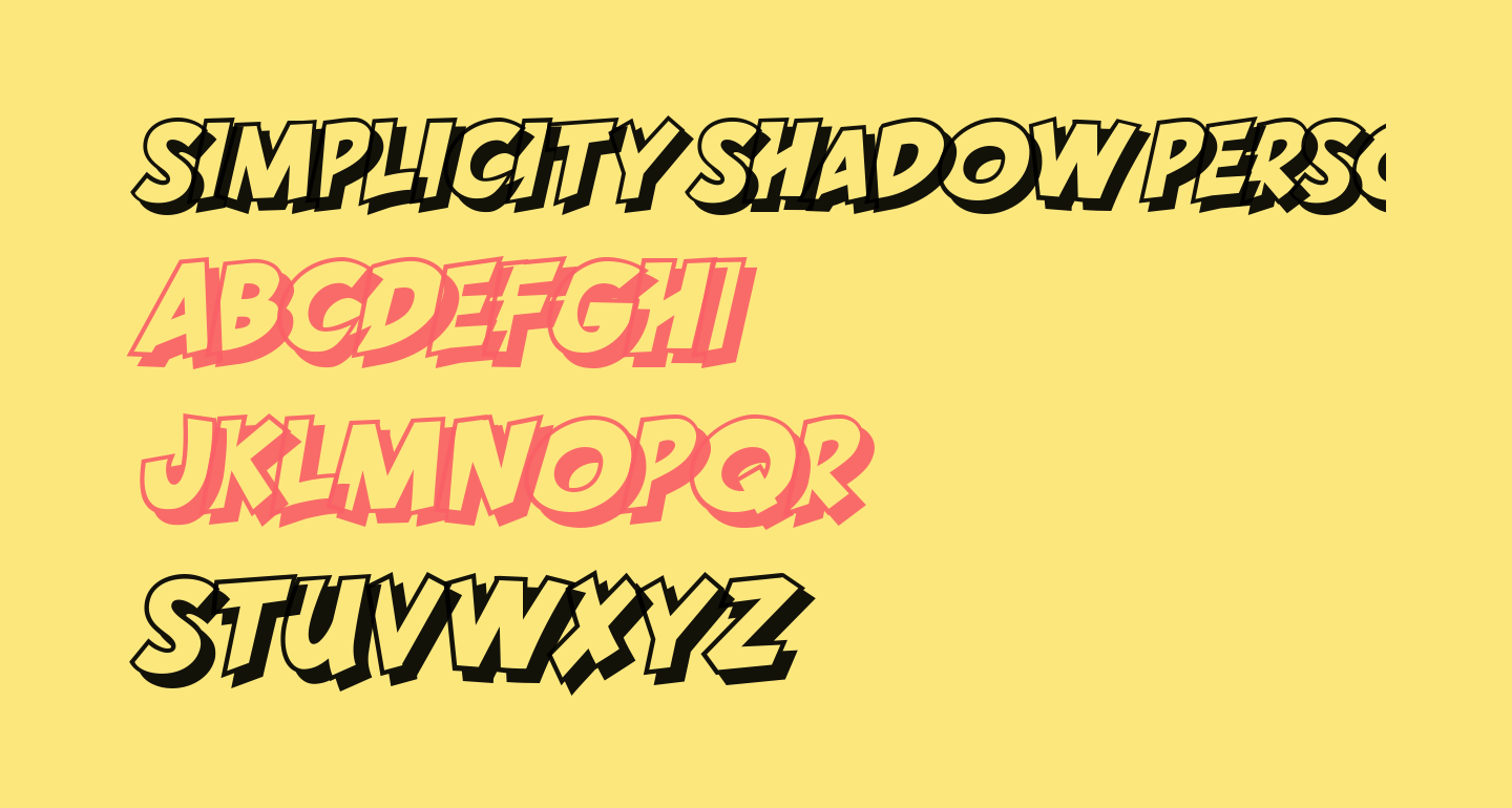 SIMPLICITY SHADOW PERSONAL USE Regular