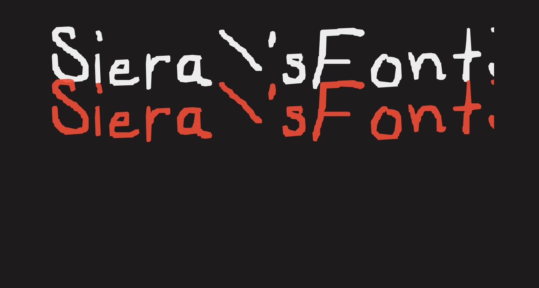 Siera'sFont3