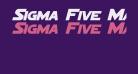 Sigma Five Marquee Bold Italic