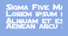 Sigma Five Marquee Bold