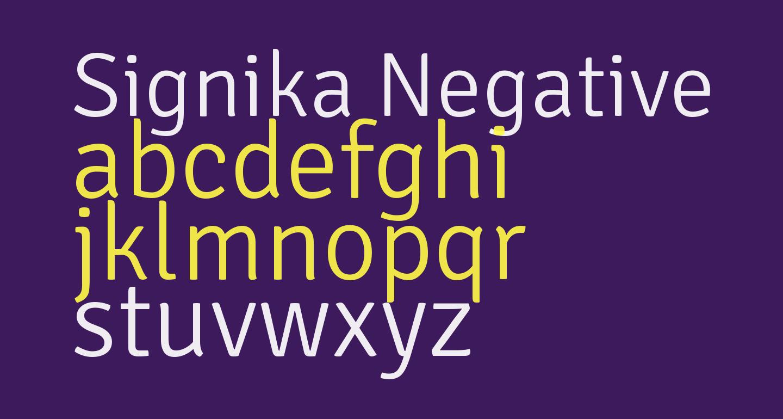 Signika Negative Light