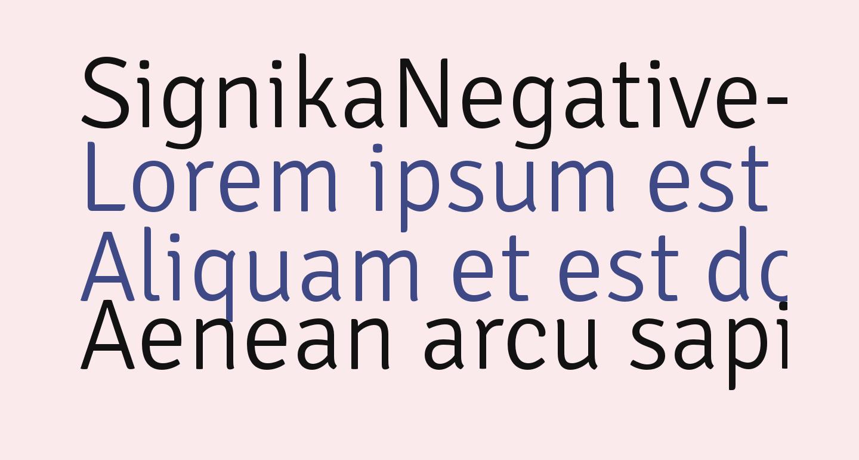 SignikaNegative-Light