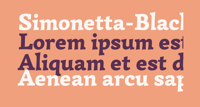 Simonetta-Black